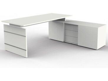 FORM 4 Schreibtisch mit Sideboard, 180x80cm