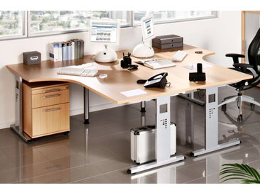 EXPRESS O-Serie Büromöbel Set, 2 Arbeitsplätze, 300x250cm
