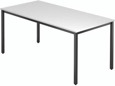 EXPRESS D Konferenztisch mit Quadratrohrgestell, schwarz b160xt80cm