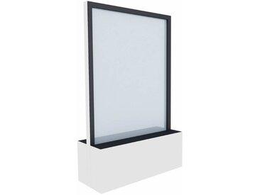 C+P Mobile Glas-Wasserwand, b100xt40xh163cm