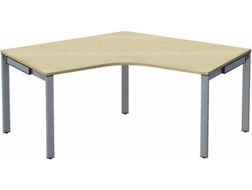 WORK Winkeltisch 120° mit 5-Fußgestell, Anschlußmaße 80/80cm