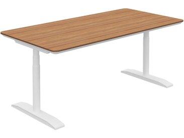 RANGE höhenverstellbarer Schreibtisch mit horizontalem Kabelkanal, b180xt90xh68-129cm