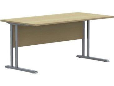 EXPERT Schreibtisch mit C-Fuß-Gestell und Fußraumblende, rechteckig, 80cm tief