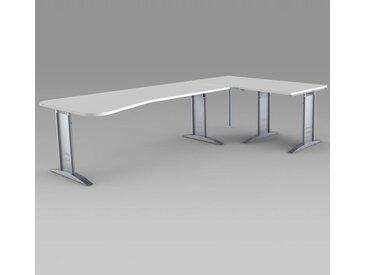 TEC-ART Ergoschreibtisch mit Anbautisch, 195/80x80-100/80cm