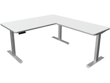 MOVE PREMIUM Steh-Sitz-Schreibtisch mit Anbauelement, C-Fuß-Gestell, 160/100x80/60cm