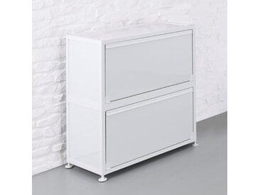 CORST Klappenschrank, Dekor Weiß, Breite 80cm, 2-OH, 3-OH oder 4-OH