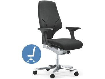 giroflex 64-4578 Drehstuhl mit breitem Sitz, Komfortpolster