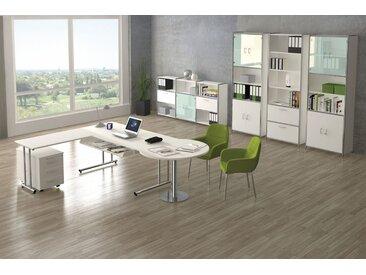 ARTLINE Büromöbel Set, 1 Arbeitsplatz mit Anbautischen, 500x400