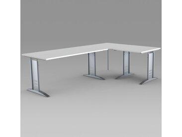 TEC-ART Schreibtisch mit Anbautisch, 160/80x80/80cm