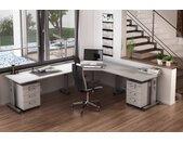 EXPRESS O-Serie Büromöbel Set, 1 Arbeitsplatz, 250x300cm