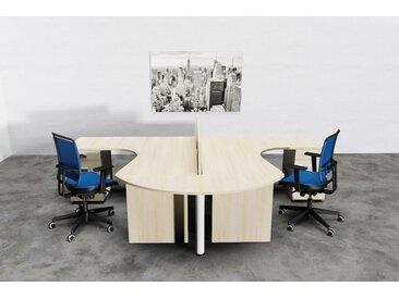 TREND PUR Büromöbel Set, Doppelarbeitsplatz, 250x350cm