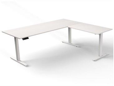 MOVE 3 Steh-Sitz-Schreibtisch mit Anbauelement, C-Fuß-Gestell, 180/100x100/60cm
