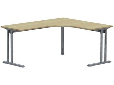 EXPERT Kompakttisch mit C-Fuß-Gestell und Kabelkanal, Anschlußmaße 60/60cm