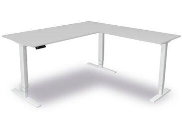 MOVE 4 Steh-Sitz-Schreibtisch mit Anbauelement, C-Fuß-Gestell, 180/100x80/60cm