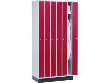 C+P Raumspar-Garderobenschrank mit 6 Abteile, b92xt50xh185cm
