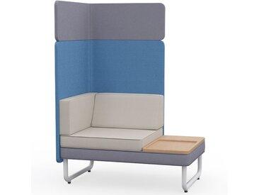 PLAY&WORK 1.5-Sitzer Sofa mit Ablagetisch, hohe Rückwand mit Aufsatzpaneel
