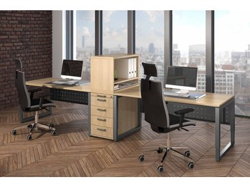 EXPRESS R-Serie Büromöbel Set, 2 Arbeitsplätze, 400x200cm