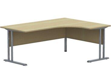 EXPERT Kompakttisch mit C-Fuß-Gestell und Fußraumblende, Anschlußmaße 80/60cm