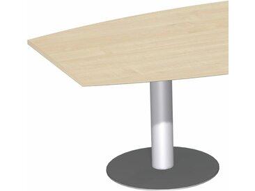 GERAMÖBEL Konferenztisch-Element mit Tellerfüßen, fassförmig