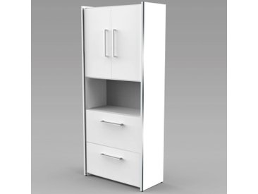 AVETO Modulschrank 5-OH, 2-OH Türen/1-OH offen/2-OH Hängeregisterschubladen, 80cm