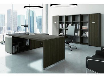 TREND TOWER Büromöbel-Set, Chefeinrichtung mit Regalsystem, 450x400cm