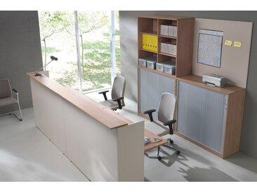 EXPERT Thekenanlage mit Doppelarbeitsplatz, 400x360cm