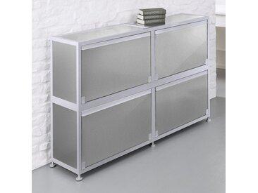 CORST Klappenschrank, Dekor Silber, Breite 150cm, 2-OH, 3-OH oder 4-OH