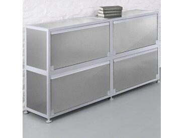 CORST Klappenschrank, Dekor Silber, Breite 180cm, 2-OH, 3-OH oder 4-OH
