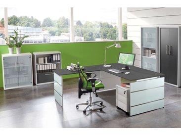 LUGANO Büromöbel Set, 1 Arbeitsplatz 450x550