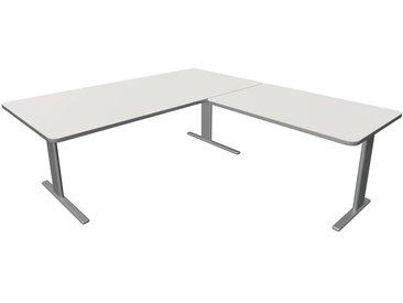 UNIC Schreibtisch mit Anbauelement, C-Fuß-Gestell, 200x220x75cm