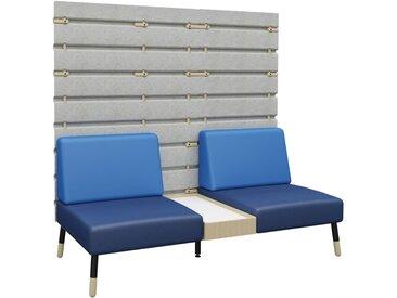 TEPEE 2-Sitzer Sofa mit Paneel und kleinem Tisch, zur Verbindung und freistehend