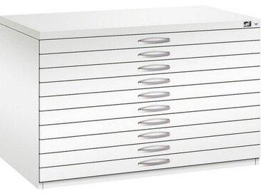 C+P Flachablageschrank mit 10 Schubladen (10x6,6cm) für DIN A1