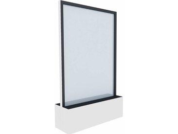 C+P Mobile Glas-Wasserwand, b120xt40xh198cm