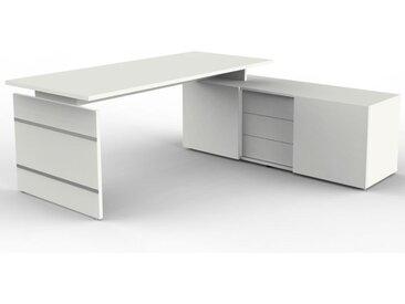 AVETO Schreibtisch mit Sideboard, 180x80cm