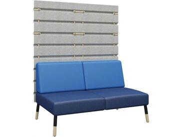 TEPEE 2-Sitzer Sofa mit Paneel, zur Verbindung und freistehend
