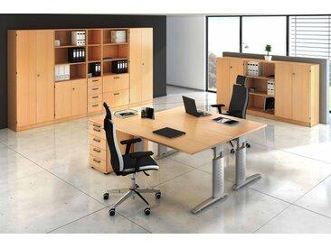 EXPRESS U-Serie Büromöbel Set, 2 Arbeitsplätze, 450x400cm