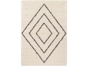 benuta ESSENTIALS Hochflorteppich Beni Cream 160x230 cm - Berber Teppich