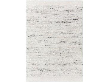 benuta TRENDS Hochflorteppich Gobi Cream/Grau 80x150 cm - Berber Teppich