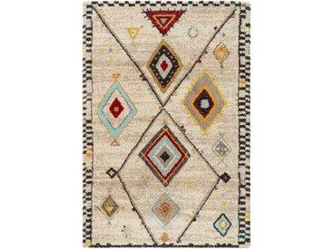 benuta TRENDS Hochflorteppich Tika Cream 100x150 cm - Berber Teppich