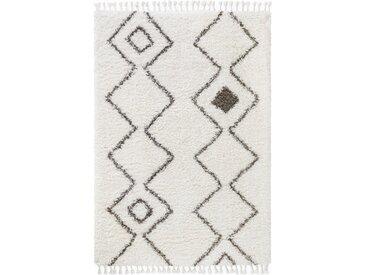 benuta TRENDS Hochflorteppich Ebba Beige 120x170 cm - Berber Teppich