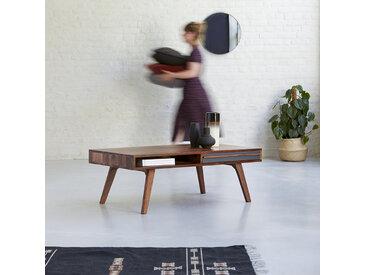 Couchtisch Palisander Wohnzimmer rechteckig 115x60cm Vintage retro Schubladen