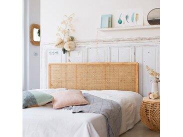Kopfteil aus Rattan für Bett mit 160 cm Schlafzimmer Doppelbett Massivholz