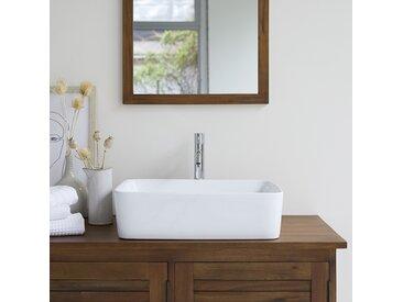 Waschbecken aus keramik Aufsatzwaschbecken Badezimmer Waschtisch Becken weiß