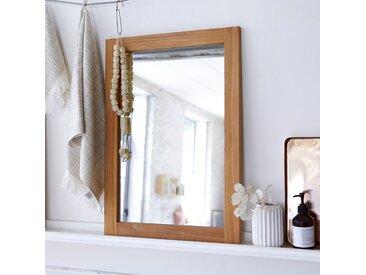 Badezimmerspiegel Wandspiegel Spiegel 70x50 Bad massivem Teakholz Teak massiv
