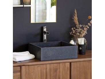 Waschbecken in Anthrazit aus Marmor- und Naturstein-Materialmix Ciro