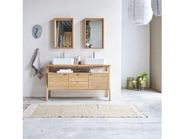 Waschbeckenunterschrank aus Eichenholz 140 Pola
