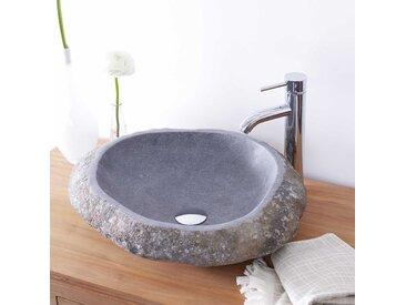 Waschbecken aus Naturstein Steinbecken Stein Waschschale Waschtisch neu