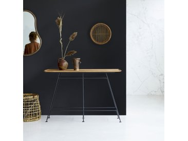 Konsolentisch aus Metall und Eichenholz 130 Ema