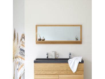 Spiegel mit Rahmen aus Eichenholz Wandspiegel Badezimmerspiegel 120x50 cm