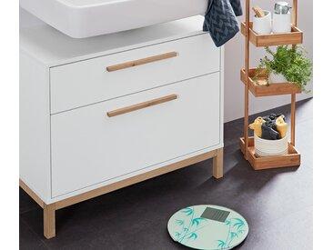 Waschbeckenunterschrank mit 2 Schubladen - braun - Holz - Tchibo